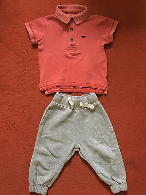 armani baby top age 6-9 months