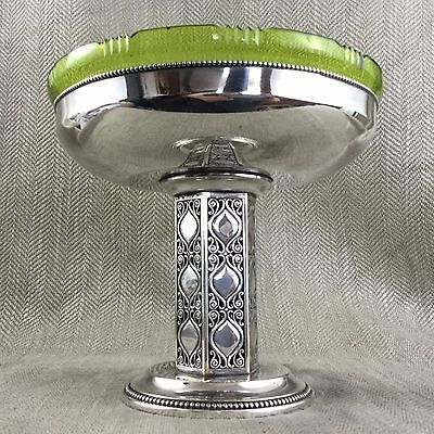 Antique Silver Plate & Glass  WMF Art Nouveau / Deco centerpiece Bowl Jugendstil