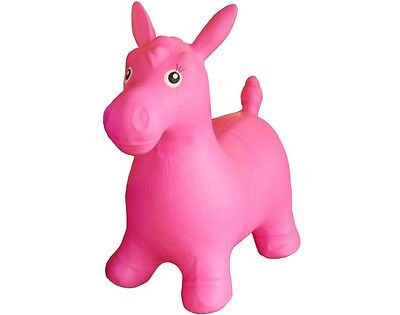 Happy Hopperz Pink Horse Childrens Ride-On Inflatable Bouncer Space Hopper