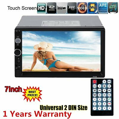 """7"""" 2 DIN Bluetooth Autoradio Touch Screen Car Stereo MP5 Player USB/TF/FM/AUX TP"""