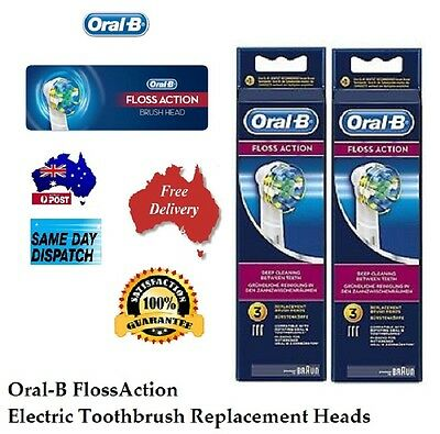 6, 9 12 Genuine Braun Oral-B Floss Action Electric Toothbrush Heads Replacement