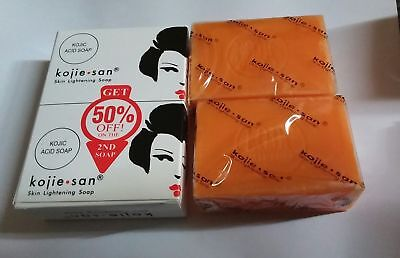 100% Authentic Kojie San Kojic Acid Skin Lightening Soap 2x135g UK SELLER