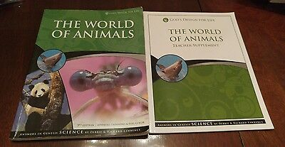 Answers in Genesis The World of Animals book and teacher supplement with cd-rom
