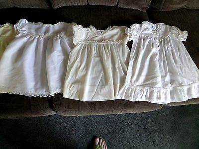 Lot of 4 Vintage Antique Baby Clothes Dresses royal deb thomas nuday   1 1/2  2