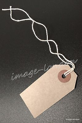 Manila Brown Buff Strung Tie On Tags Labels Retail Luggage tags with string