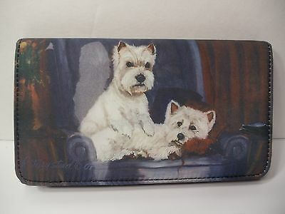 """""""WESTIE"""" WEST HIGHLAND TERRIER Wallet By Ruth Maystead Best Friends Forever"""
