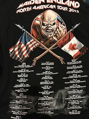 Iron Maiden XL Vintage T Shirt Maiden England 2012  USA Tour The Trooper Dated