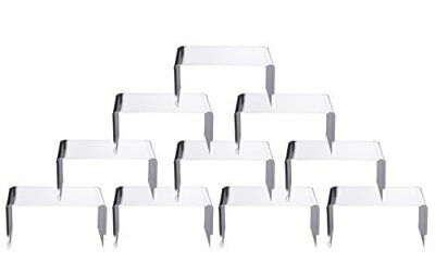 """10 PCS Clear Acrylic Display Risers Showcase for Jewelry 4""""x 3''x 2'', Lot"""