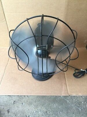 """Vintage 16"""" Arctic Aire Oscillating Table 3-Speed Fan WORKING Model 163SSS"""
