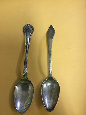 Sterling silver spoons 2 old spoons