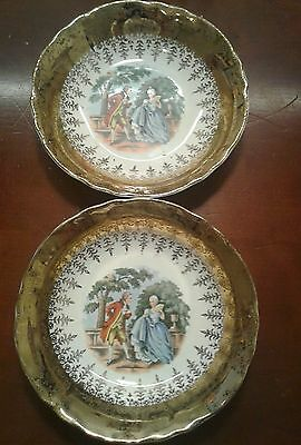 2- VINTAGE W.S. GEORGE RADISSON  GEO 12 DESIGN CHINA -- FRUIT/ DESSERT BOWL d