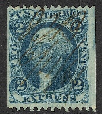 Us Revenue-1St Issue, R9B, Part Perf, 2¢ Express, Nicely Centered