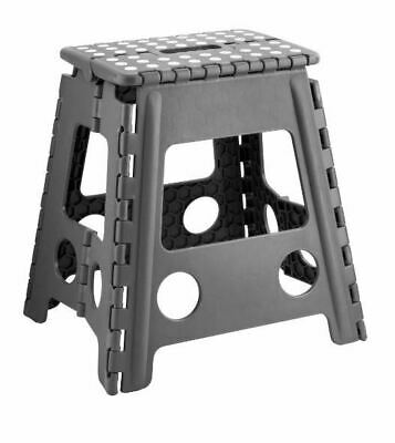 Plastic Large Multi Purpose Folding Home Foldable Easy Storage Step Stool NEW