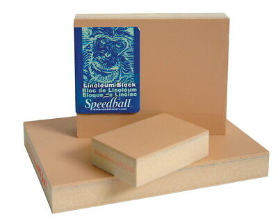 SCSP-410861-Speedball Linoleum Block, 8 X 10 in, Smoky Tan