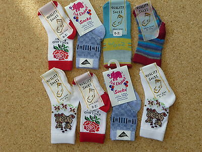 8 Pairs Asstd Baby Boys Socks.shoe Size 0-2.5   (0-6 Months )