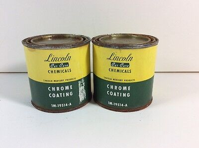 Vintage Lincoln Mercury Car Care 1M-19514-A Chrome Can Protectant O