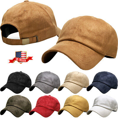 a5a198a4fbe 6 PANEL SUEDE Dad Hat Baseball Classic Adjustable Soft Plain Cap ...