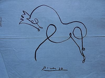 Pablo Picasso  -  Drawing / Ink On Old Paper   .-/ Dessin --