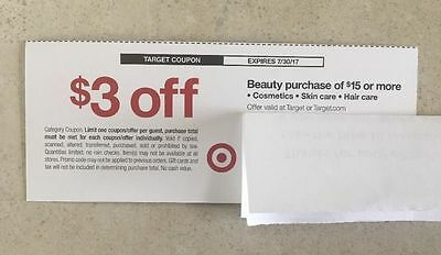 Target Coupon $3 Off Beauty Purchase Of $15 Or More Online cpn only exp 7/30/17