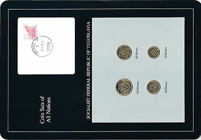 Coin Sets of All Nations Yugoslavia UNC 20,100 Dinara 1989 50,10 Dinara 1988