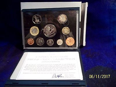 1998 United Kingdom Deluxe Proof Set, GEM Coins, Ten Coins Total, With COA