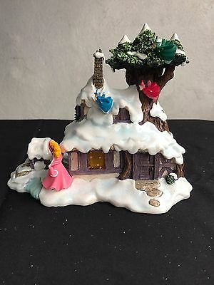 Disney Lighted Christmas Light Up Aurora's House Briar Rose Village MIB
