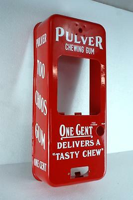Pulver Short Case Gum Machine Cabinet Only Restored Penny Cent Gumball