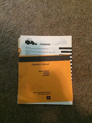 John Deere loader JD444 operators manual. everything from AS-Z you need to know