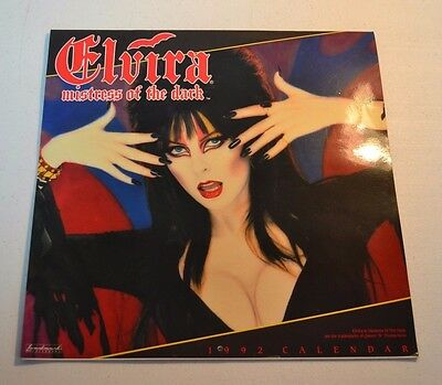 USED 1992 Elvira Mistress of the Dark Calendar