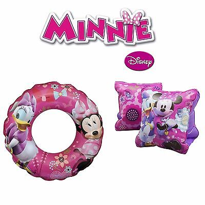 Minnie Mouse Girls Armbands Swim Ring & Arm Band Set Of Two Savings On Pool Aids
