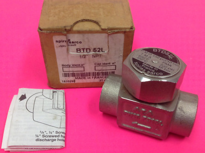 "Spirax/Sarco - Part BTD52L - Thermodynamic Steam Trap - 1/2"" NPT - NEW"