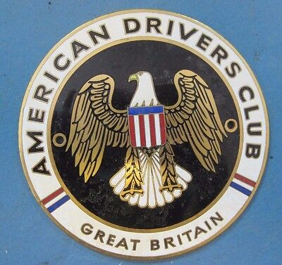 American Drivers Club of Great Britain grill or radiator emblem porcelain