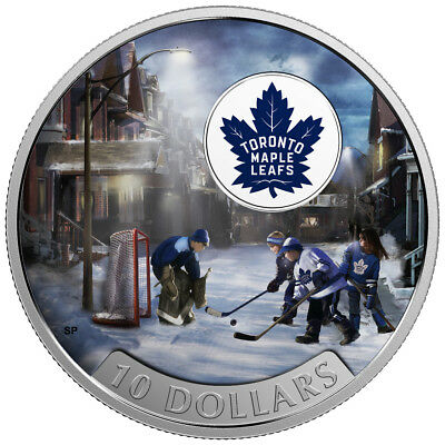 2017 $10 Fine Silver Coin Passion To Play: Toronto Maple Leafs®