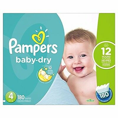 Pampers Baby Dry Step Size 4 Diapers Economy Plus Pack - 180 Count   PAL