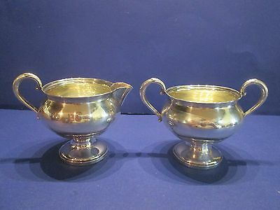 Fisher Sterling Weighted 703 Sugar & Creamer Bowl