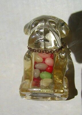 Rare ~ Vintage Dog Candy Container ~Original Candy And --> Collar !!
