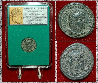Ancient Roman Empire Coin Of CONSTANTINE THE GREAT Two Victories Museum Quality!