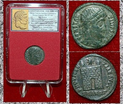 Ancient Roman Empire Coin Of CONSTANTINE THE GREAT Campgate Museum Quality Coin