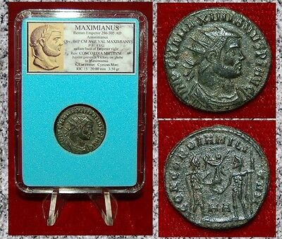 Ancient Coin MAXIMIANUS Bust Of Emperor Jupiter on Reverse Museum Quality Coin!