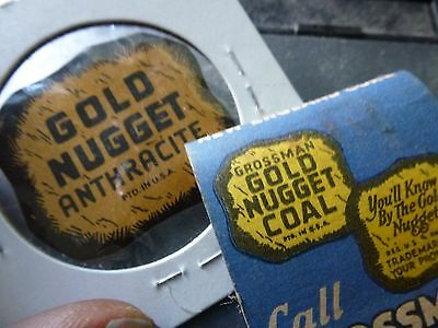 GROSSMAN LUMBER COMPANY anthracite GOLD NUGGET COAL scatter tag QUINCY MA mass??