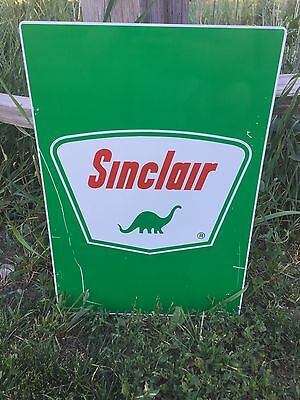 """Sinclair Gasoline Tin Window Sign Unused And Great Collectible 19.5""""x13.5"""""""