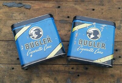 Lot Of 2 Bugler Tobacco Tins Tobaciana Tin Vintage
