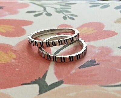 Waxing Poetic Sterling Silver Rings (two avail. Size 7 & 8)