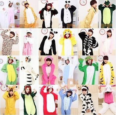 Adult Unisex Kigurumi Animal Pajamas Cosplay Costume Sleepwear S-XL Onesie2 robe