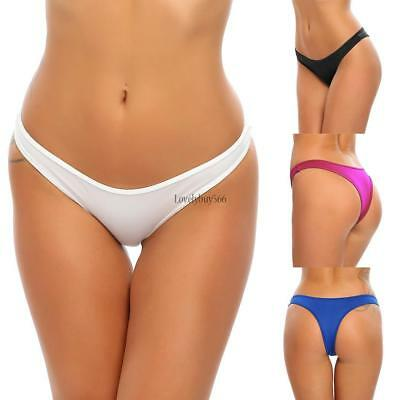 Women Brazilian Bikini Swimwear T-Back Thong G-String Bottom Beach Suit LB6Y