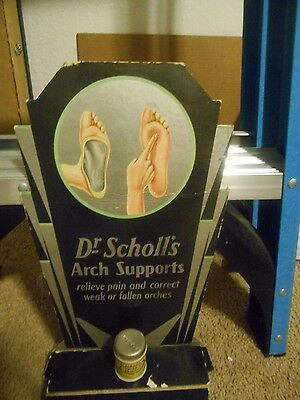 late 20's-early 30's dr. schoii's cardboard easelback sign
