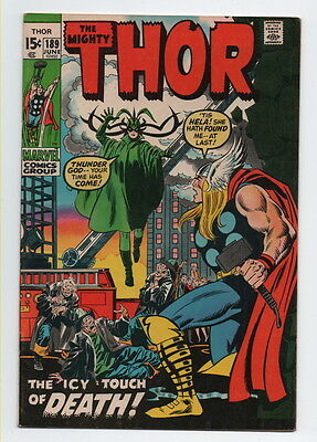 The Mighty Thor Comic Book #189 Marvel Comics 1971 Very Fine+