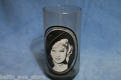 """Vintage Hollywood Collectable Arby's Glass 1979 MAE WEST """"I'm No Angel"""" 1933"""