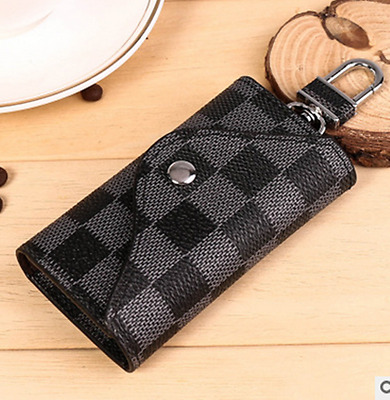 Men Women Leather ID Credit Card Wallet Holder Purse Bifold Coin Pocket Black