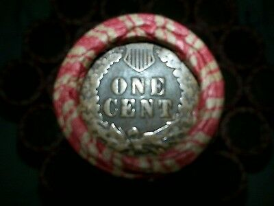One Lincoln Wheat Cent Penny Roll  Indian Head Both Ends!  1909-1958        T04